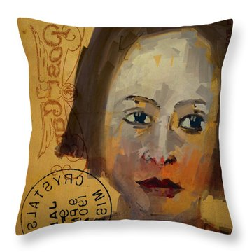 Throw Pillow featuring the digital art Posted Memories by Jim Vance
