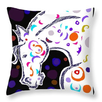 poster HORSE Throw Pillow