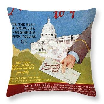 Poster: Social Security Throw Pillow