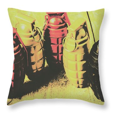 Throw Pillow featuring the photograph Posterized Granade Art by Jorgo Photography - Wall Art Gallery