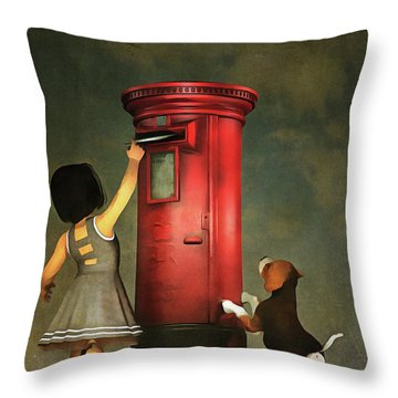Posting A Letter Together Throw Pillow