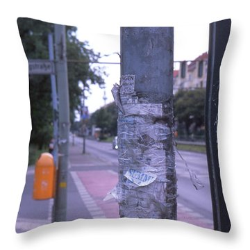 Posts And Towers In Berlin Throw Pillow