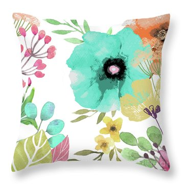 Posy II Throw Pillow