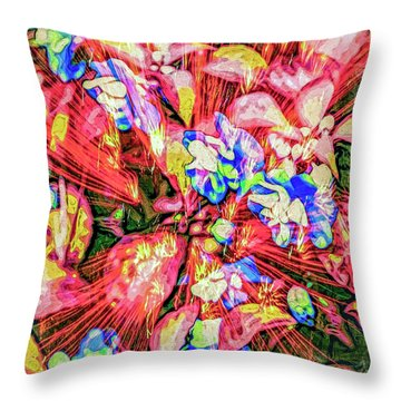 Throw Pillow featuring the digital art Pot Pourri by Eleni Mac Synodinos