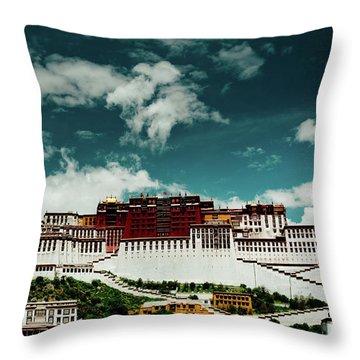 Potala Palace. Lhasa, Tibet. Artmif.lv Throw Pillow