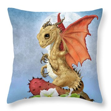 Throw Pillow featuring the digital art Potato Dragon by Stanley Morrison