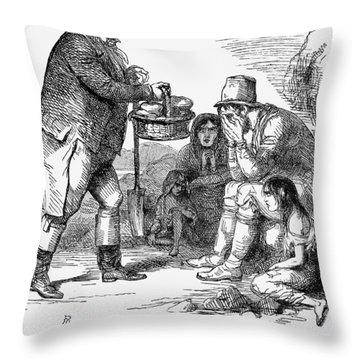 Potato Famine, 1846 Throw Pillow by Granger