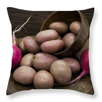 Potatoes And Radishes Throw Pillow