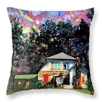 Potential On Elm Street Throw Pillow