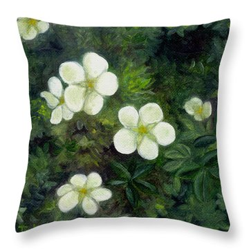 Potentilla Throw Pillow
