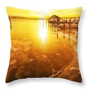 Potomac In Old Town Alexandria Throw Pillow