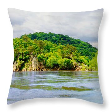 Throw Pillow featuring the photograph Potomac Palisaides by Francesa Miller
