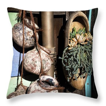 Pots And Plants Throw Pillow by Catherine Lau