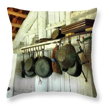 Pots In Kitchen Throw Pillow