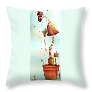 Trolls And Ladders.  Throw Pillow