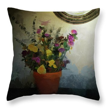 Potted Flowers 2 Throw Pillow