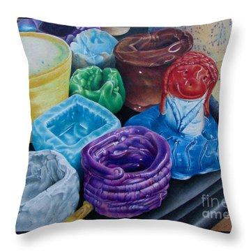 Pottery Princess Throw Pillow