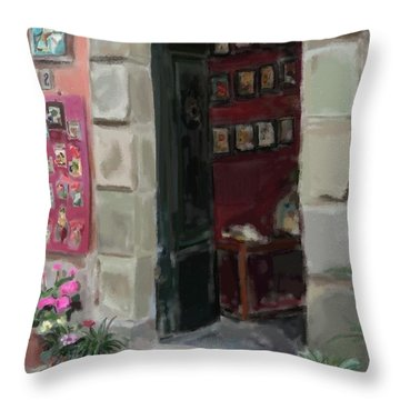 Pottery Shop Throw Pillow by Patti Siehien