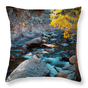 Poudre Dream Throw Pillow