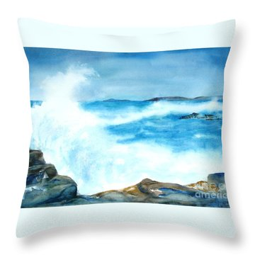 Pounding Surf Throw Pillow