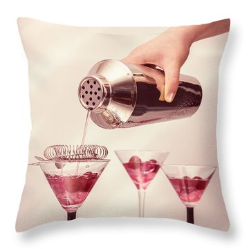 Pouring Cocktails Throw Pillow