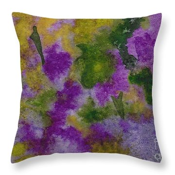 Throw Pillow featuring the painting Pouring Flowers by Vicki  Housel