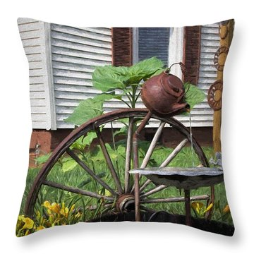 Throw Pillow featuring the photograph Pouring Out The Past by Benanne Stiens