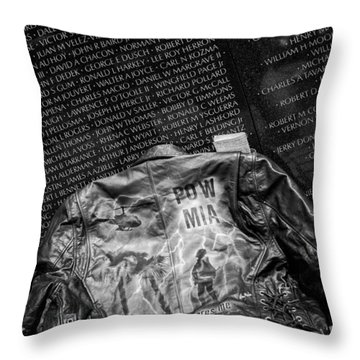 Pow Mia Never Forget Throw Pillow by Sennie Pierson
