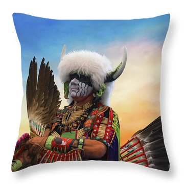 Throw Pillow featuring the photograph Pow Wow 3 by Jim  Hatch