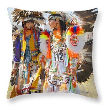 Pow Wow Contestants - Grand Prairie Tx Throw Pillow