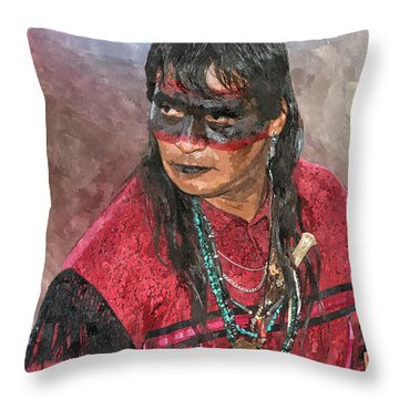 Pow Wow Throw Pillow