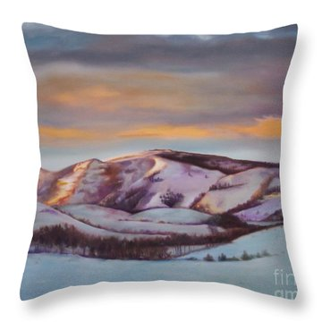 Powder Mountain Throw Pillow