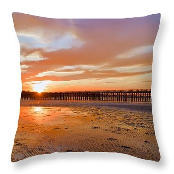 Powder Point Bridge Duxbury Throw Pillow