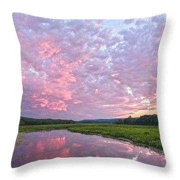 Puffy Kaleidoscopic Clouds At Basha Kill Throw Pillow
