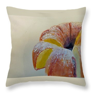 Powdered Sugar Lemon Bundt Cake Throw Pillow