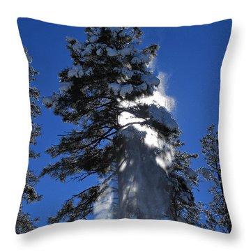 Powderfall Throw Pillow