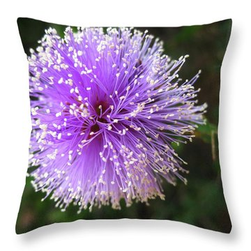 Throw Pillow featuring the photograph Purple Orb by Mary Ellen Frazee