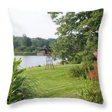 Powell Gardens Throw Pillow by Ellen Tully