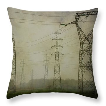 Power 5. Throw Pillow by Clare Bambers