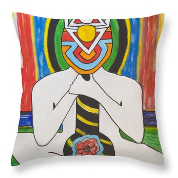 Power Above Throw Pillow
