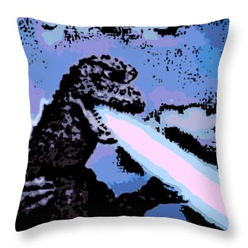 Power Blast Throw Pillow by George Pedro