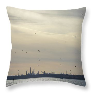 Power By The Sea Throw Pillow