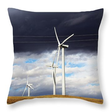 Power-full Throw Pillow by Alyce Taylor