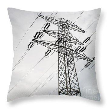 Power Grid Pylon Wires Throw Pillow