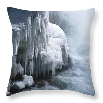 Power Has No Fear Of The Cold Throw Pillow