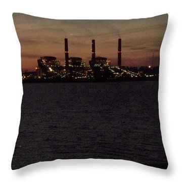 Throw Pillow featuring the photograph Power In The Dark by Betty Northcutt