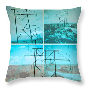 Power Line Patriots Throw Pillow by Bartz Johnson