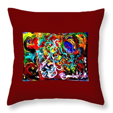 Power Of Colour Throw Pillow