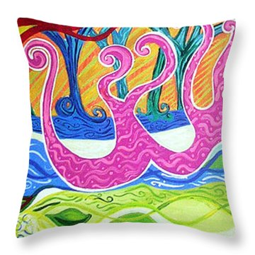 Power Of Love Throw Pillow by Genevieve Esson