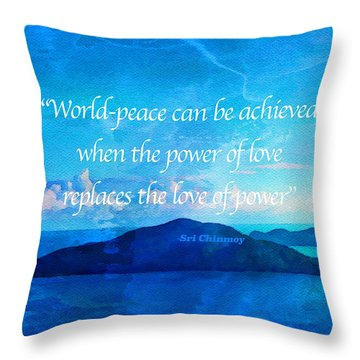 Throw Pillow featuring the painting Power Of Love by Joan Reese